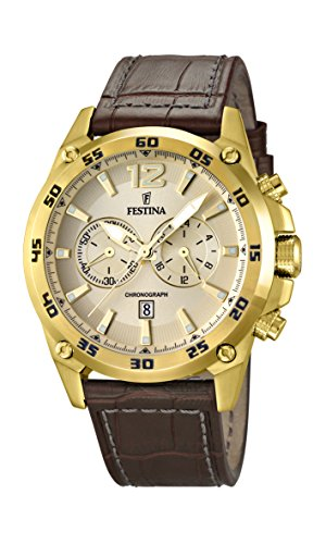 Festina Men's Quartz Watch with Chronograph Quartz Leather F16880/1