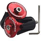JNP 1 Paio Manubrio fine Spine Road MTB Bici Bicicletta Alluminio Manubrio manopole ad Alta qualità Maniglia Bar cap Tappi 6 Colori (Rosso)