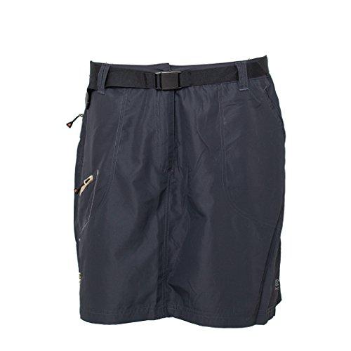 Deproc Active Damen Granby Skort Kurzer Rock mit Innen Eingearbeitem Shorts, Anthracite, 42 (Rock Active)