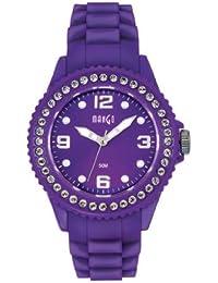 Mango A68346PU10P - Reloj para mujeres, correa de goma color morado