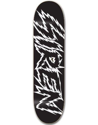 Siren Team Shocker Skateboard Deck, schwarz/weiß