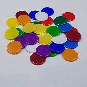120pcs Chips Fichas Marcadores para Juego de Bingo 6 Colores 3cm