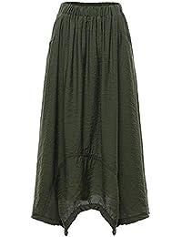 190d3a498ca4 Amazon.it  gonna lunga - Verde   Donna  Abbigliamento