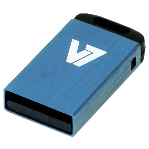 V7 VU232GCR-BLU-2E V7 Nano USB 2.0 Flash Drive 32GB blau