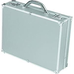 Alumaxx Attachékoffer OCTAN, Aktenkoffer aus Aluminium, Geschäftskoffer Silber, Alu Business Koffer,46 cm