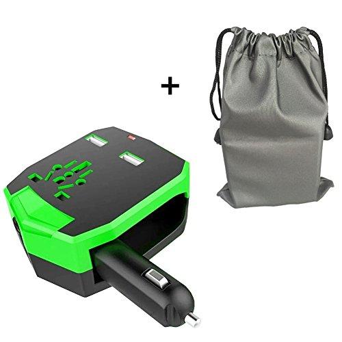 TODO el mundo adaptador de viaje, KINDEN enchufe internacional (US/EU/UK/AU) enchufe de CA universal Armour de pared adaptadores con 2,5A doble puertos de carga USB y cargador de coche