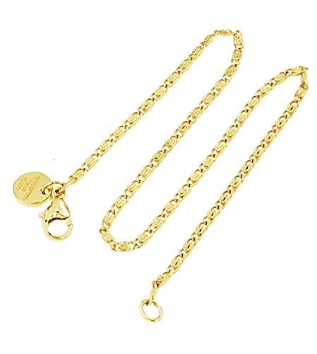 old Doublé 2 mm Länge 70 cm, Halskette Goldkette Herren-Kette Anhängerkette Damen Geschenk Schmuck ab Fabrik Italien tendenze SPGYs2-70 ()