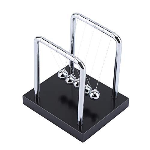 Zerodis Klassische Newton Cradle Balance Balls Erwachsene Physik Wissenschaft Stahl Pendel Ornamente pädagogisches Spielzeug Geschenk für Home Office Schreibtisch - Schreibtisch Klick