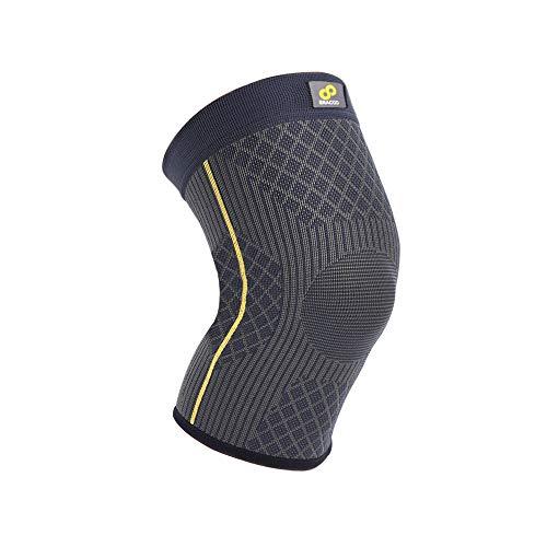 BRACOO Guardian Kompression Knie Sleeve für Damen & Herren - Elastische Kniebandage – Atmungsaktive Kniestütze bei Meniskus-Beschwerden, Knie Arthrose, Sehnenentzündung & Bänderriss | M
