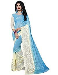 Fab Valley Women's Latest Designer Chiffon Embroidered Traditional Saree