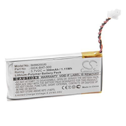 Polymer Li-ionen-pack (vhbw Akku passend für Vernier Go Direct Calcium Ion-Selective Electrode, Chloride Ion-Selective Electrode Messgerät (300mAh, 3.7V, Li-Polymer))
