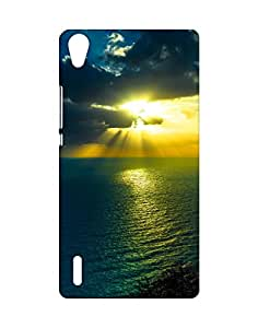 Mobifry Back case cover for Huawei Ascend P7 Mobile (Printed design)
