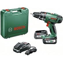 Bosch PSB 14,4 LI-2 - Atornillador/taladro de percusión con 2 baterías de litio (36 W, 14,4 V)
