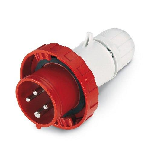 Scame 218.1636P Conector Eléctrico, 415 V, Rojo