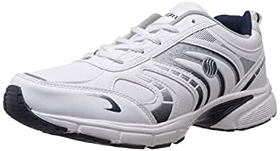 Action Shoes Men's White and Navy Running Shoes - 10 UK (A04 NT)
