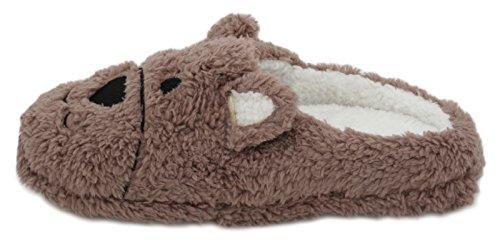 Pantofole da casa, animale Pantofole Brown