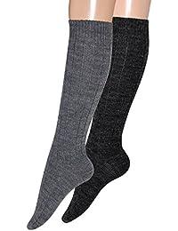 Kniestrümpfe Wolle mit Alpaka Wollstrümpfe Knielang aus Wolle mit Alpaka, 1 Paar, 2 Paar oder 4 Paar Gr 43-46, 39-42