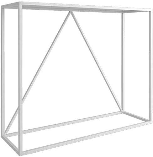 SUNBAOBAO Eingangshalle Tisch, Metall-Konsole ultradünne Eingang Tabelle Sofa hinten Geeignet für Jede Wand in jedem Raum 2 Farben, 2 Größen,Weiß,100×25×80cm -
