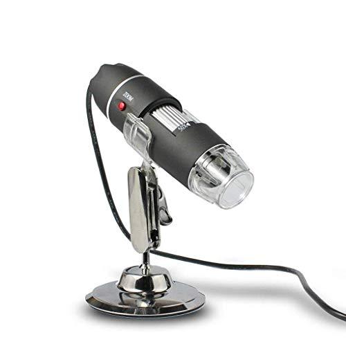 JIAHE115 Lupa Mano Lupa 50-500X 8 Luces LED Lupa iluminada