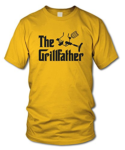 shirtloge - THE GRILLFATHER - KULT - BBQ T-Shirt - in verschiedenen Farben - Größe S - XXL Gelb