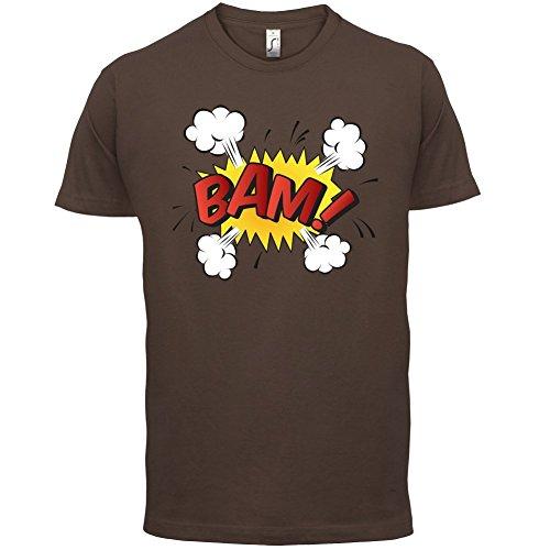 Superheld Bam - Herren T-Shirt - 13 Farben Schokobraun