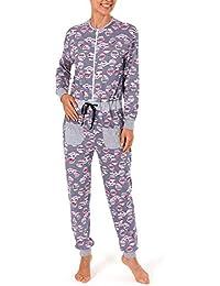 00652b66a7e1f6 Creative by Normann Damen Schlafanzug Einteiler Jumpsuit Overall Langarm  mit Tollen Motiv 59636