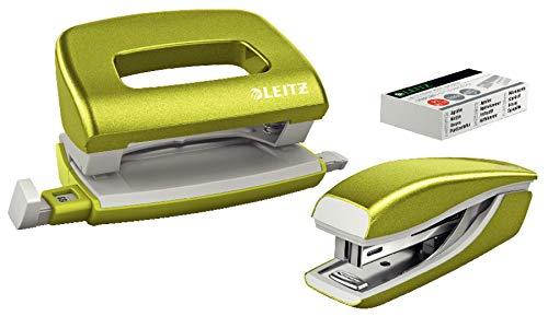 Leitz Wow 55612064 Set de Mini-agrafeuse + Perforateur Vert