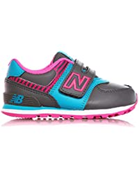 New Balance - Zapatillas de gimnasia para niña Gris Grigio/Rosa