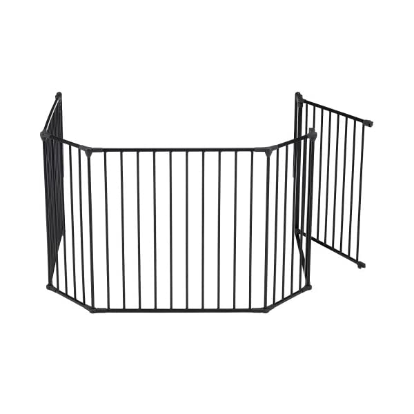 BabyDan Configure Gate Extra Large Black  Includes 1x 72cm Gate Panel, 2x 33cm Panels, 2x 72cm Panels and Wall Mounting Kit Multiple purposes: Can be used as a safety gate, hearth gate, room divider or play pen Flexible and easy to fit. One handed operation. Two way opening 4