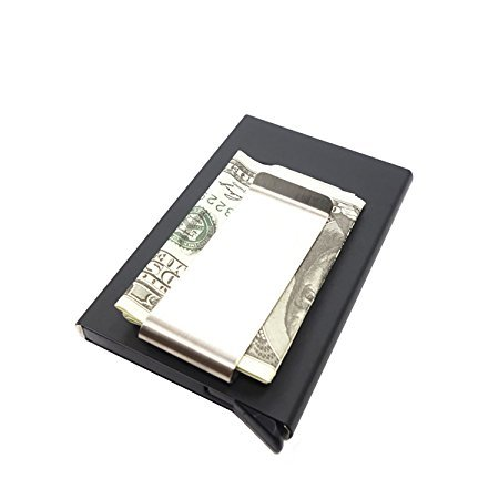 c3c2f52900 Porta Carte di Credito Anti-RFID Wallet Mini Uomo Pop Up Alluminio Sottile,  Porta