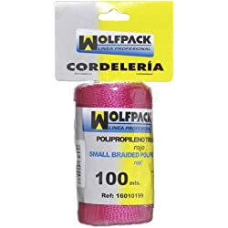 Wolfpack 16010199 Cuerda Trencilla Polipropileno Roja (Bobina 100 Metros)