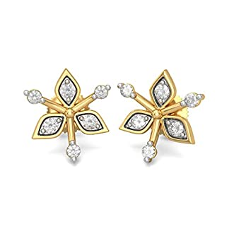 BlueStone 14K Yellow Gold and Diamond Eden Earrings