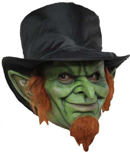 Grüner Kobold Latex Maske