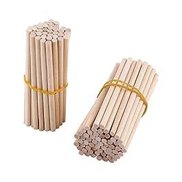 100 PCS 80 millimetri di legno non finiti barre tonde di centraggio per l'artigianato del legn