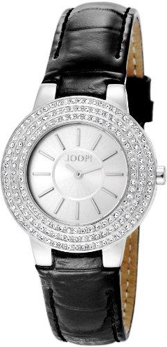 Joop Nova Swiss Made - Reloj de cuarzo para mujer, con correa de cuero, color negro