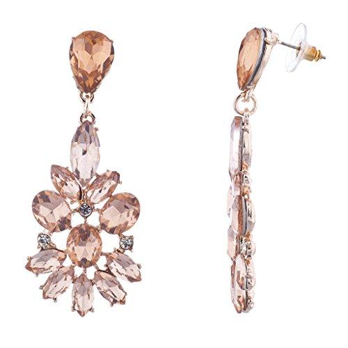 lux-zubehr-rose-gold-pink-besonderen-anlass-blumen-statement-ohrringe