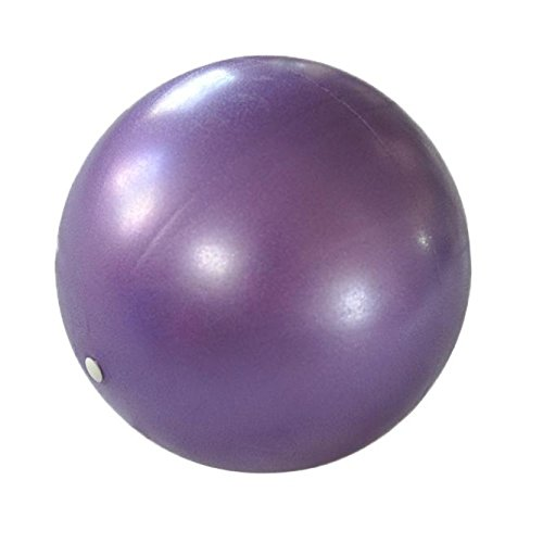 HCFKJ 25cm Übung Fitness Gymnastik Smooth Yoga Ball (LILA) -