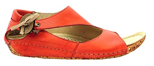 Riva Cartier - Sandales en cuir - Femme Rouge - Corail