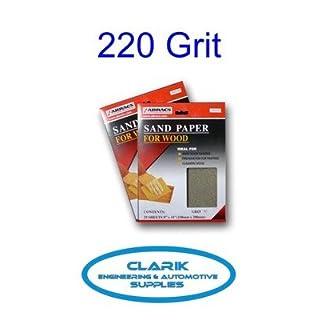 ABRACS Sandpaper Sheets For Wood 230Mm X 280Mm 220 Grit Qty 5