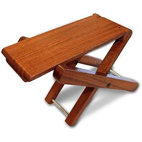 Cordoba pieghevole in legno, pieghevole, con poggiapiedi Sgabello per chitarra in palissandro