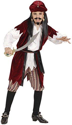 Widmann 57418 - Kinderkostüm Karibik Pirat, Hemd mit Weste, Hose, Gürtel und Kopftuch, Größe (Der Karibik Piraten Kinder Kostüme)