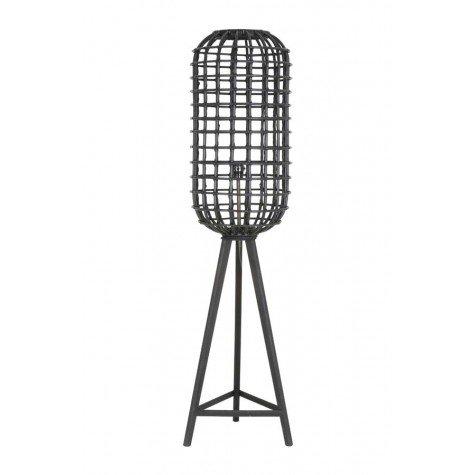 Light & Living Lampadaire Design en rotin Noir Ø 36 x 150 cm