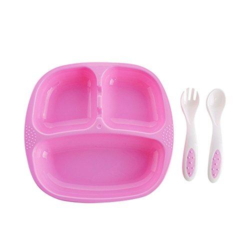 ilt, für Kleinkinder und Schulkinder, mit Löffel und Gabel, BPA-frei, langlebig, geeignet für zu Hause und in der Schule, Rosa ()