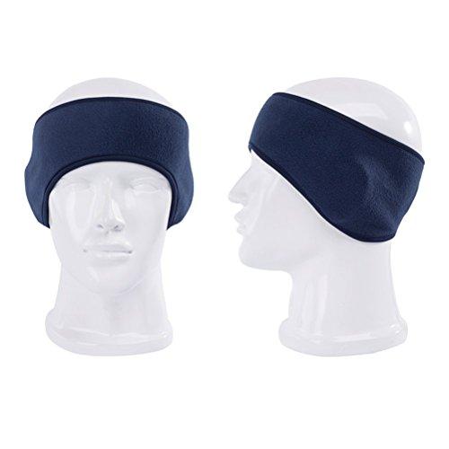 PIXNOR Ear Warmer Winter Headbands Fleece Thermal Ski Ear Muff Stretch Spandex Hair Band Accessories (Royal Blue)