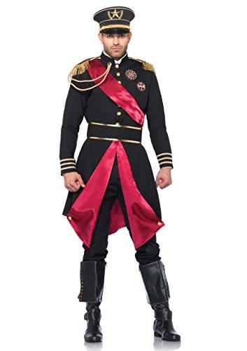 (LEG AVENUE 85278 - Militär Allgemein Kostüm Set, 2-teilig, Größe M/L, schwarz)