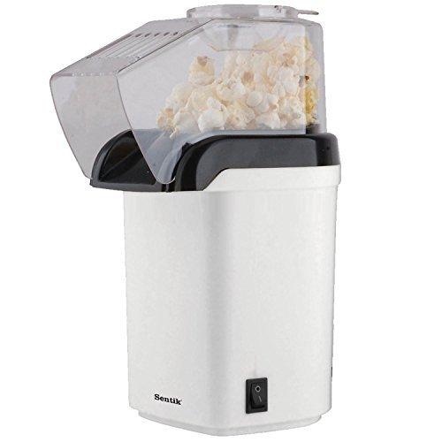 Sentik-1200w-Electric-Popcorn-Maker-Machine-Fat-Free-Pop-Corn-Popper-White-by-Sentik