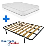 Duermete Cama Completa con Colchón viscoelástico Confortvisco Reversible
