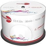 Primeon 2761105 CD-R Rohlinge (80 Min, 700MB, 52x Cakebox, 50-er Spindel)