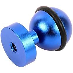 F-blue Remplacement pour GoPro en Alliage d'aluminium 1/4 Pouces vis Taraudées caméra Adaptateur d'action plongée sous-Marine Boule de lumière Mount Adapter