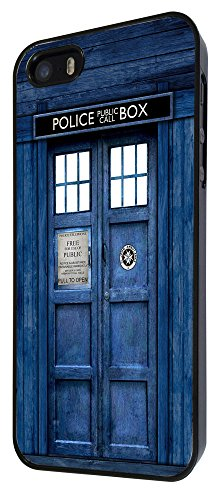 567 - Tardis Doctor Who Coque iPhone 4 4S Design Fashion Trend Case Back Cover Métal et Plastique - Noir